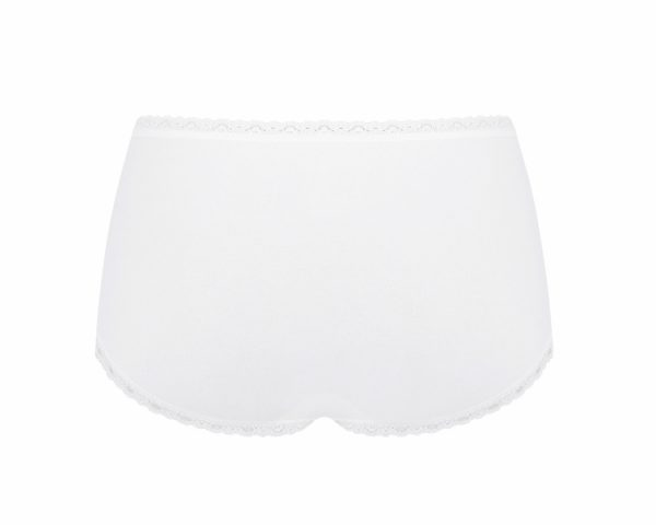 Sloggi 247 Cotton Lace Midi bugyi fehér