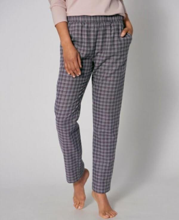 Triumph Mix & Match Tapered Trouser Flannel flanel pizsama nadrág