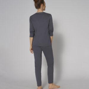 Triumph PK 02 LSL Sets sötétszürke pizsama
