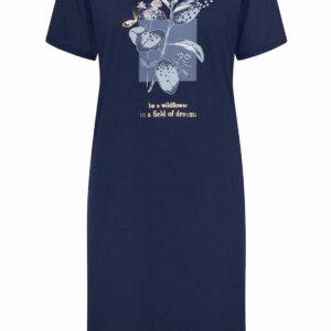 Triumph Nightdresses NDK 10 X rövidujjú hálóing / otthoni ruha sötétkék és barokk rose színben