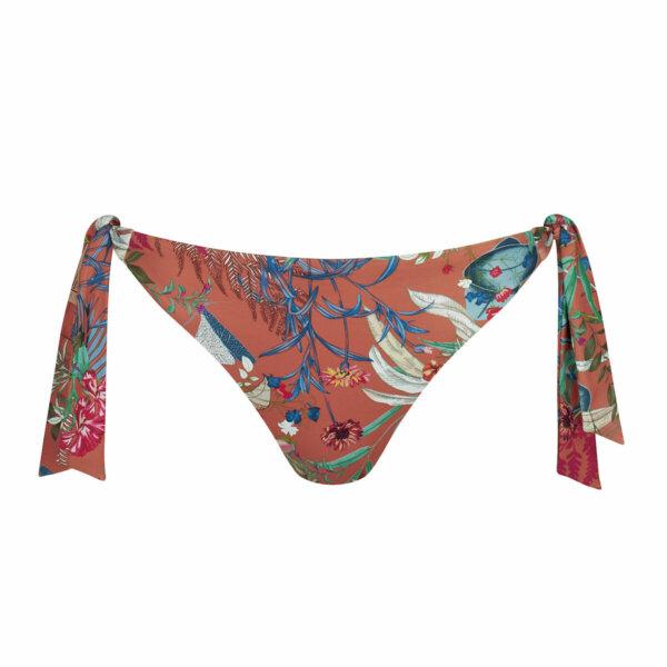 Triumph Botanical Leaf Tai oldalkötős bikini alsó rozsdaszínben virágmintával