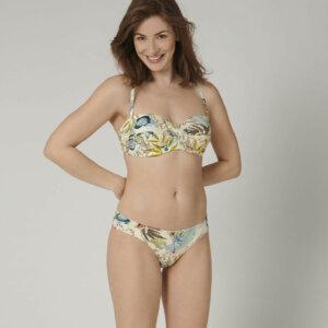 Triumph BOTANICAL LEAF DP levehető pántos bikini felső szivaccsal