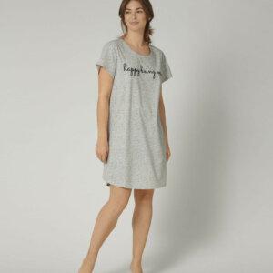Triumph Nightdresses NDK 01 rövidujjú hálóing szürke színben mintával