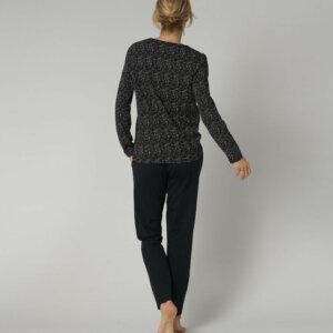 Triumph Sets PK 02 LSL hosszúujjú hosszúszárú pizsama fekete színben