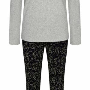 Triumph Sets PK 02 LSL hosszúujjú hosszúszárú pizsama szürke fekete színben