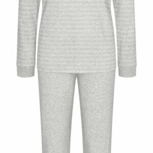 Triumph Sets PK LSL 10 hosszúujjú hosszúszárú pizsama világos szürke színben csíkokkal